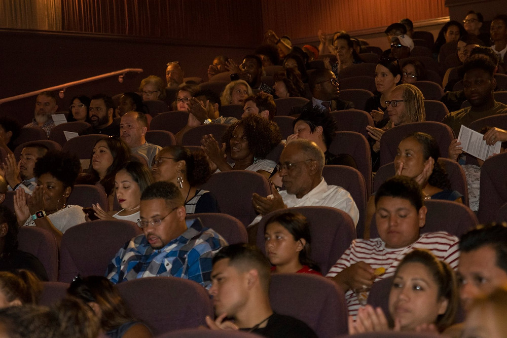 Audience at the premiere held at Pasadena's Laemmle's Playhouse 7 theater