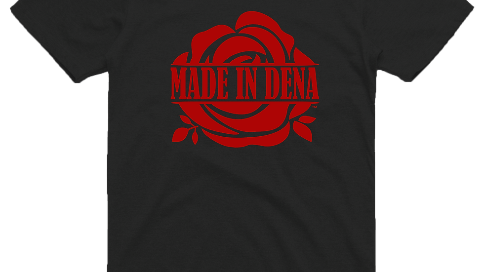 """MADE IN DENA"" Classic Red Logo Tee"