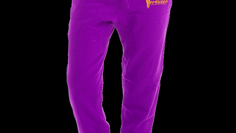 """""""HARDWEAR APPAREL"""" Kobe-Inspired Gold Logo Purple Fleece Jogger Sweatpants"""