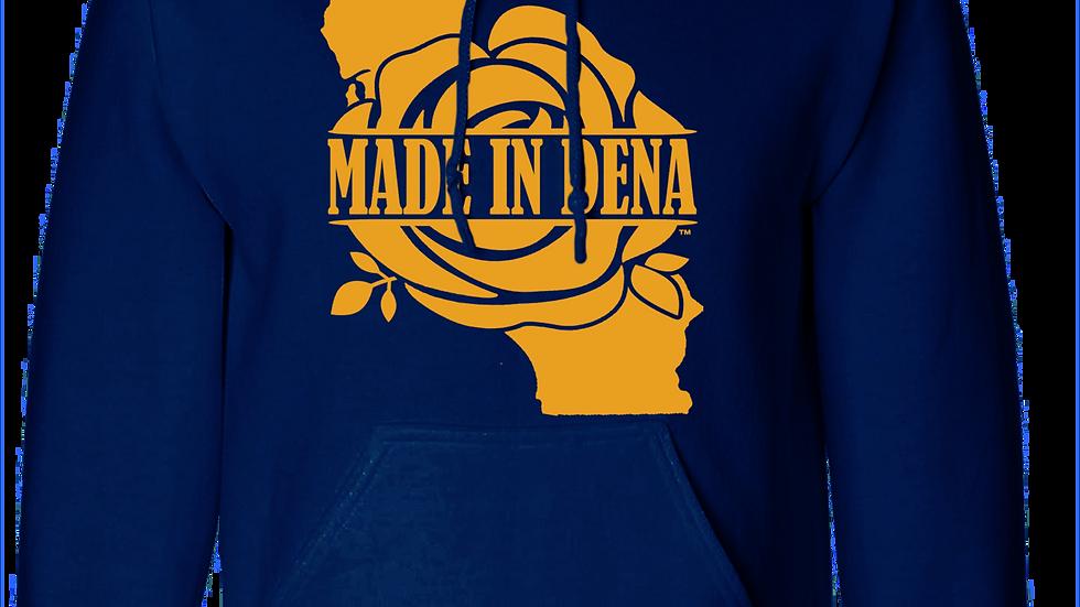 """""""MADE IN DENA"""" Cali Gold Logo Fleece Hoody"""