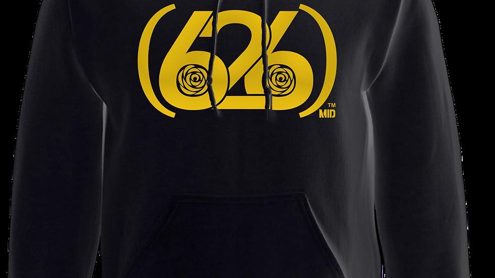 MADE IN DENA Area Code 626 Gold Logo Black Hoodie