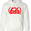 Thumbnail: MADE IN DENA Area Code 626 Red Logo White Hoodie