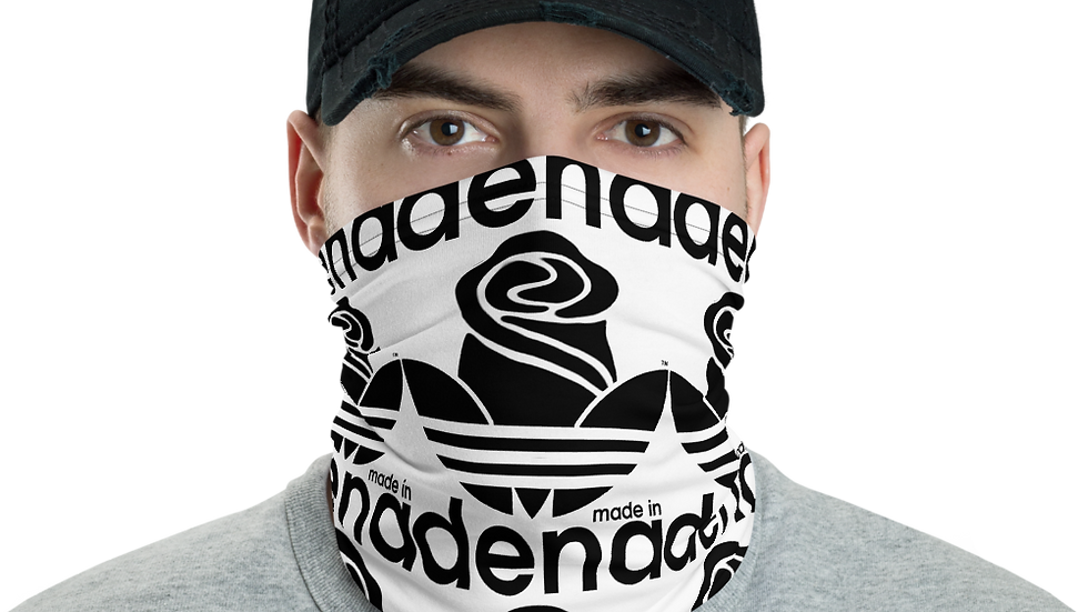 """MADE IN DENA"" Black Adirose Logo Official Mask & Neck Gaiter"