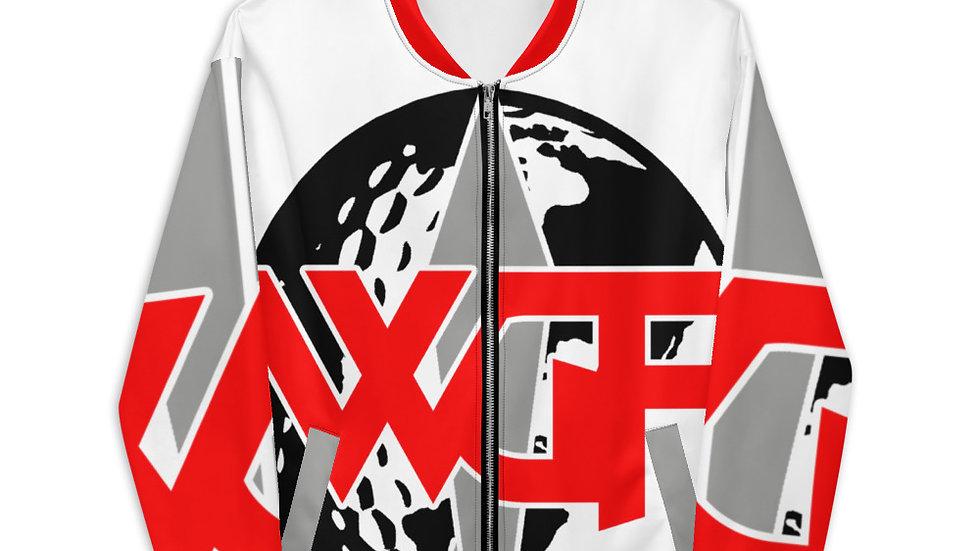 """WGF"" Oversized Logo Bomber Jacket by Hardwear Apparel"