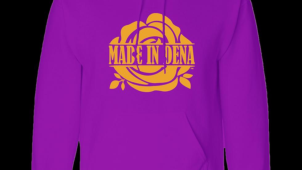 """MADE IN DENA"" Kobe-Inspired Classic Gold Logo Hooded Sweatshirt"