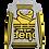 Thumbnail: MADE IN DENA Athletic Gold Adirose Drip Grey Hoodie