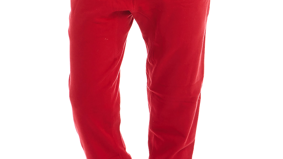 MADE IN DENA Area Code 626 White Logo Red Joggers