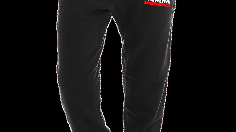 """MADE IN DENA"" Alta Pasa Red & White Logo Black Jogger Sweatpants"