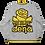 Thumbnail: MADE IN DENA Athletic Gold Adirose Drip Grey Lightweight Bomber Jacket