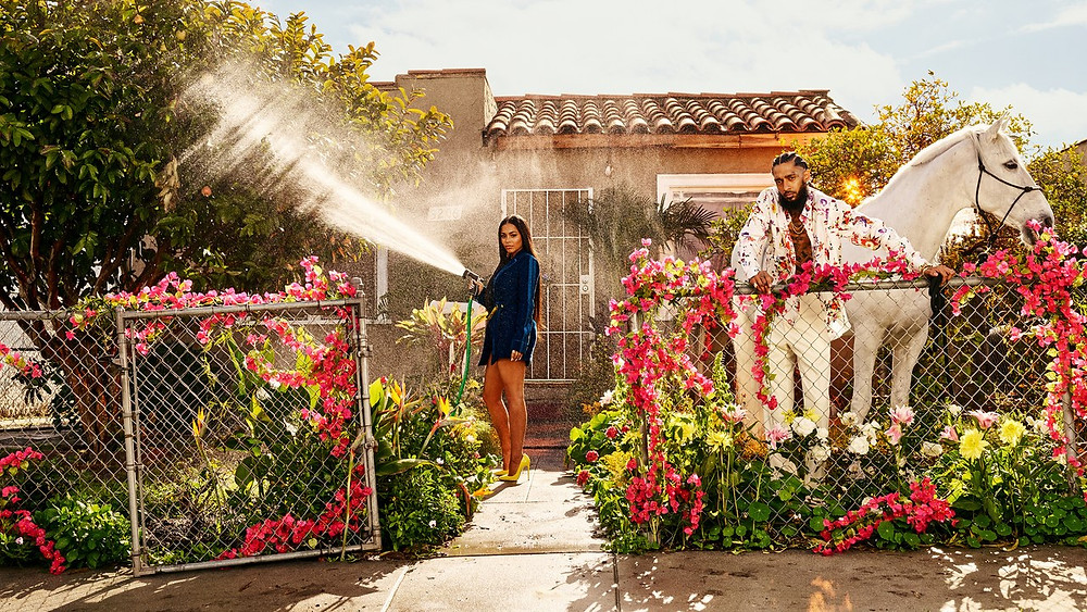 Lauren London with fiance Nipsey Hussle in GQ spread