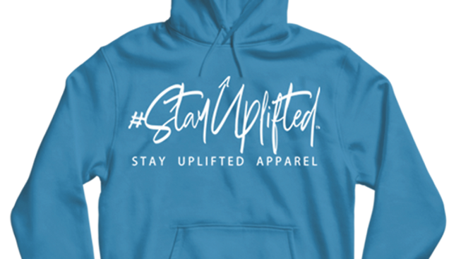 "Turquoise ""StayUplifted"" Hashtag Hoodie by Stay Uplifted Apparel"