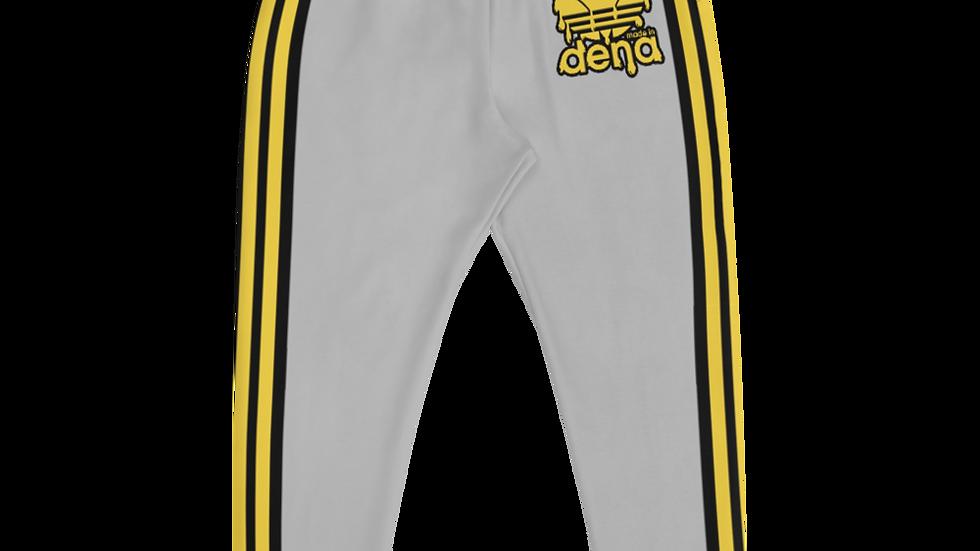 MADE IN DENA Athletic Gold Adirose Drip Grey Joggers