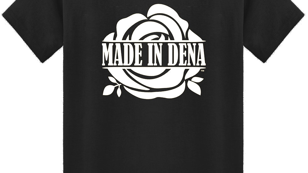 """MADE IN DENA"" White Logo Tee"