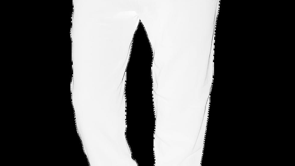 """HARDWEAR APPAREL"" Official Black Logo White Jogger Sweatpants"