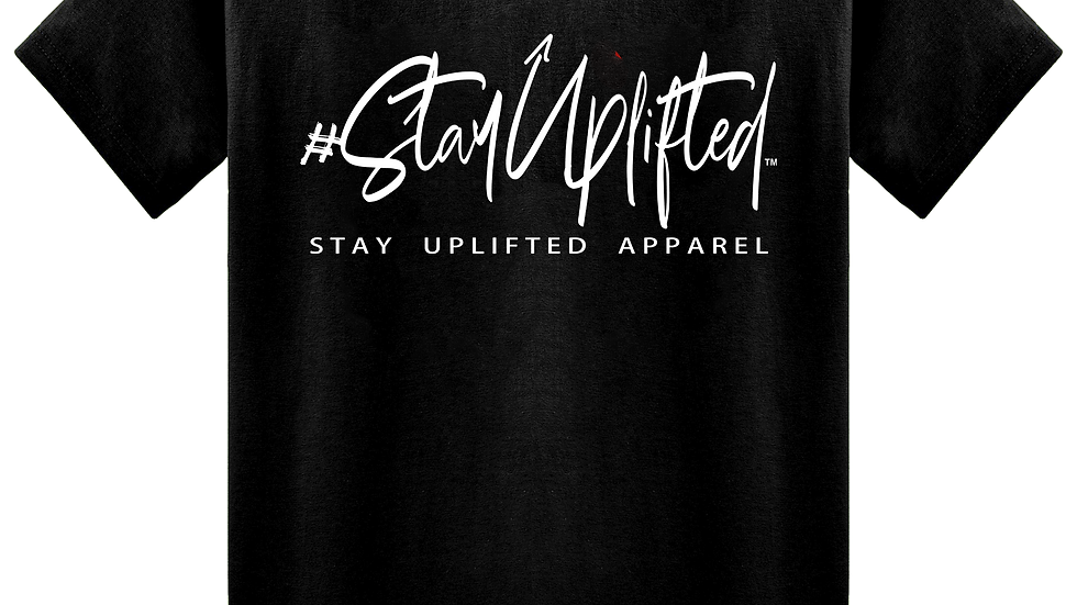 "Black ""StayUplifted"" Hashtag Tee by Stay Uplifted Apparel"