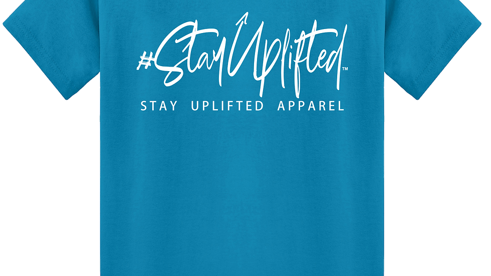 "Turquoise ""StayUplifted"" Hashtag Tee by Stay Uplifted Apparel"