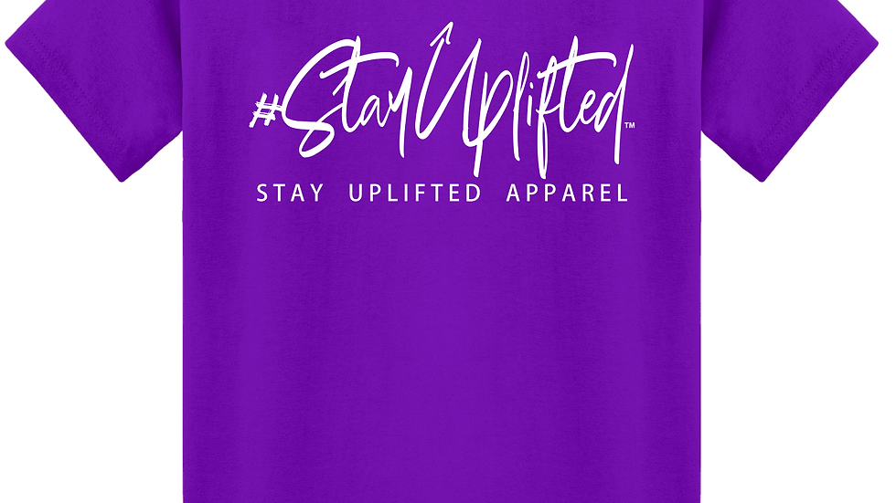 "Purple ""StayUplifted"" Hashtag Tee by Stay Uplifted Apparel"