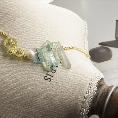 時光 復古無鍍金手工輕珠寶項鍊AGF