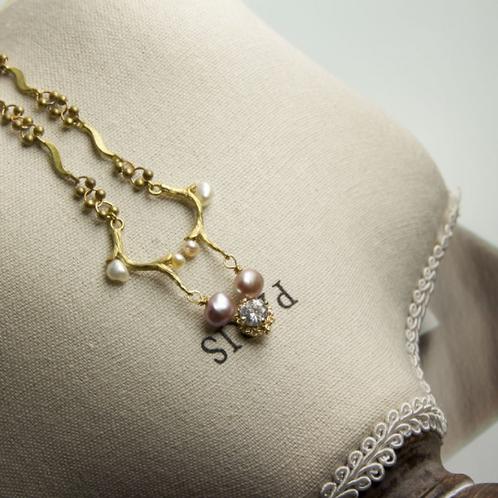優雅 復古無鍍金手工輕珠寶項鍊AG FASHION