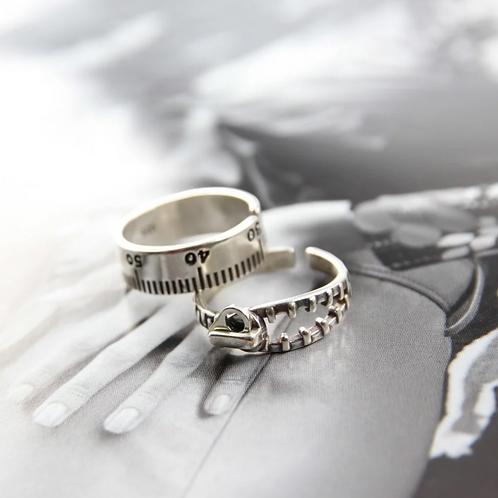 趣味中性 手工鑄造純銀戒指