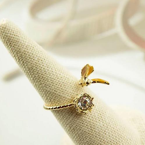 飛翔 手工鑄造鈦戒指