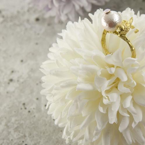 喜鵲 手工鑄造黃銅戒指