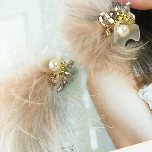 Belle Époque Era 法式剌繡 醫療鋼針耳飾