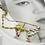 Thumbnail: The Bee 復古無鍍金手工輕珠寶項鍊AG FASHION