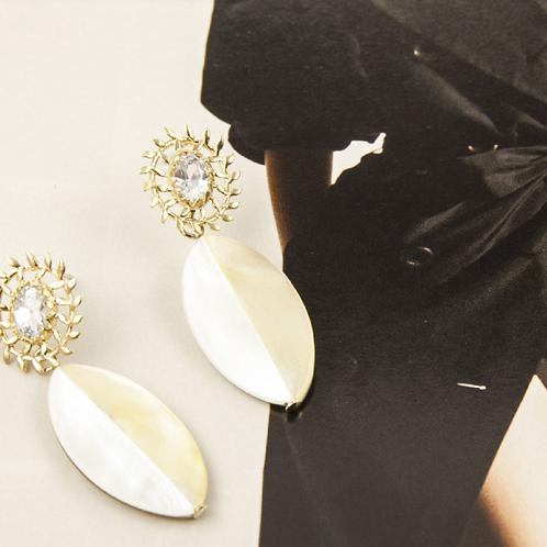 珍珠貝工藝美學 手工鑄造鈦耳飾