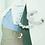 Thumbnail: Modern Art Deco 多瑙河手工鑄造銀針耳飾