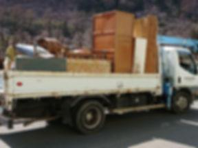 トラックによる不用品回収