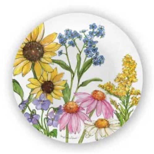 Bamboo Table Wildflower Salad Plate