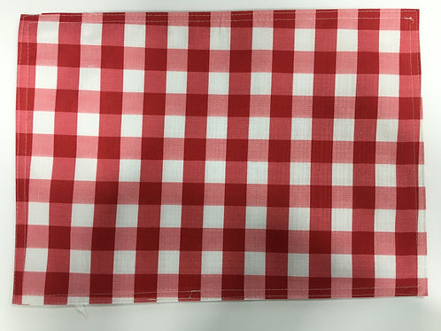 Outdoor Red and White Checked Placemats