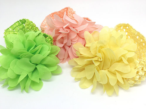 Flower Organza baby headbands