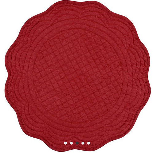 Boutis Placemat Red Round