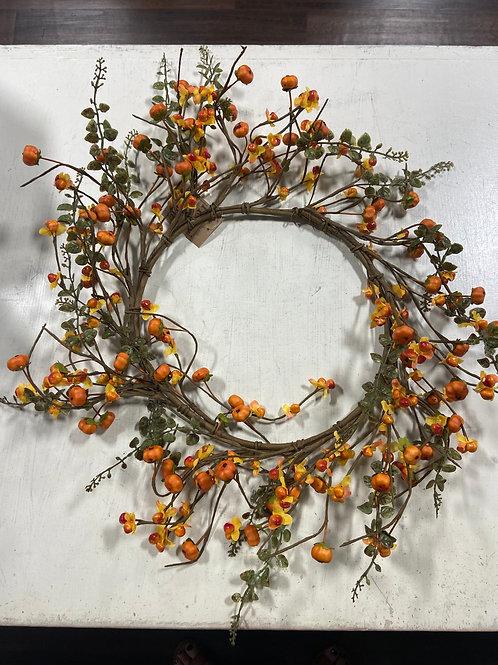 Large Berry Pumpkin Wreath
