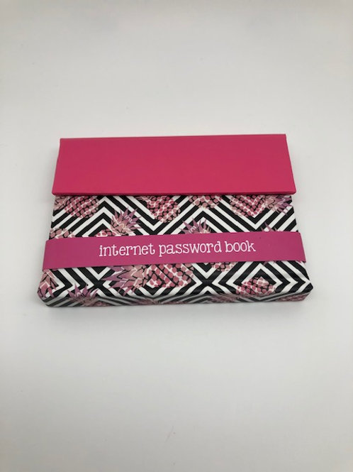 Internet Password Book - Pink and Black