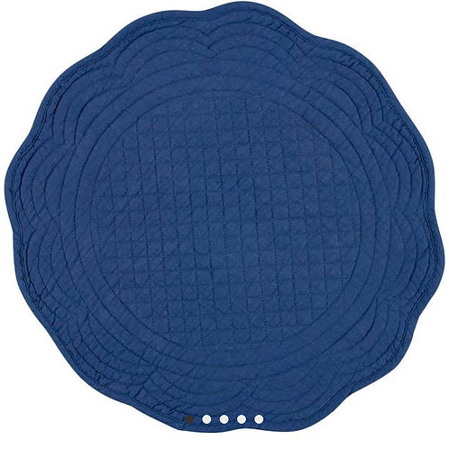 Boutis Placemat Round Blue