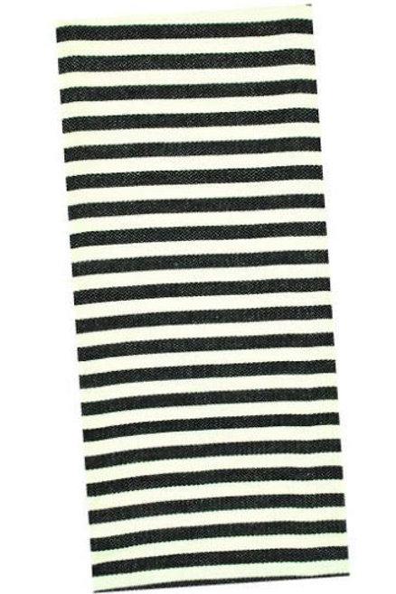 Black and Cream Striped Tea Towel