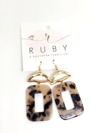 Leopard Lucite Earrings