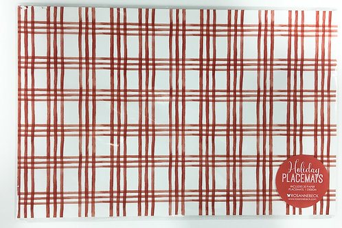 Red and White Plaid Paper Placemats