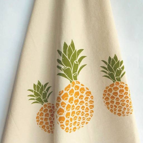 The High Fiber Hand Printed Cotton Towel/Pineapple