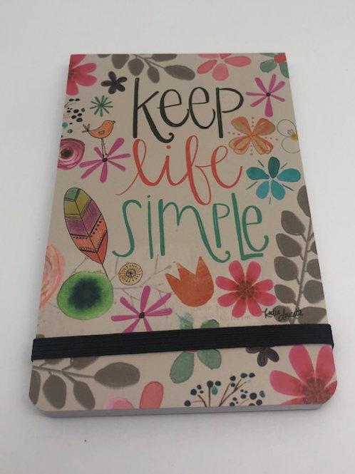 Keep Life Simple Purse Notebook