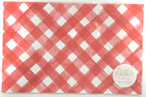 Red and White Lattice Paper Placemats