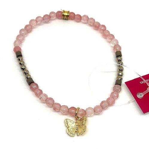 Chavis Blush Butterfly Bracelet
