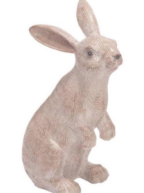 Resin 10 in. Neutral Resin Bunny