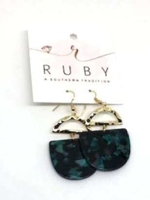 Gold And Animal Print Lucite Earrings