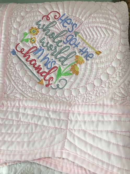 "36"" X 46"" Baby Embroidered Baby Quilt"