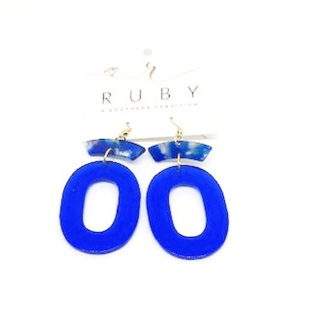 Blue Lucite Earrings