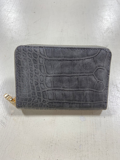 Dark Grey Mini Leather Wallet